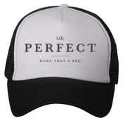 Mr. Perfect Trucker Hat Black / White