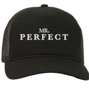 Mr. Perfect Trucker Hat Black
